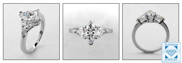 Cubic Zirconia Marquise 3 Stone Ring Call Now 1 888 465 9992