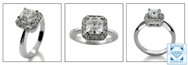 Diamond Quality Asscher Cut Cz Ring