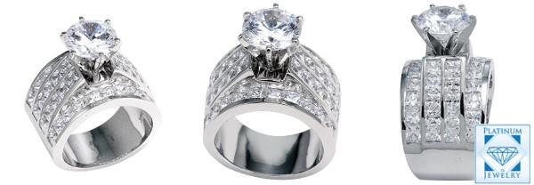 Cubic Zirconia CZ Platinum Jewelry