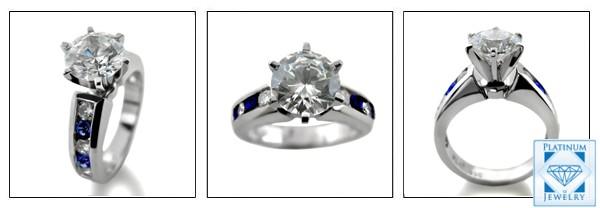 high quality cubic zirconia platinum ring