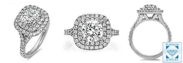 Tiffany Cz Platinum Ring P8358